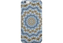 Light and Dark Blue and Brown Kaleiduscope-Mandala auf Redbubble von pASob-dESIGN