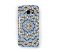 Light and Dark Blue and Brown Kaleiduscope-Mandala