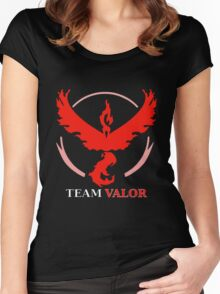 Pokemon GO - Team Valor Women's Fitted Scoop T-Shirt
