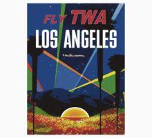 """TWA"" Fly to Los Angeles Travel Print Kids Tee"