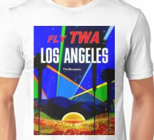 """TWA"" Fly to Los Angeles Travel Print Unisex T-Shirt"