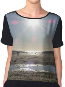 Beach at Sunset Chiffon Top