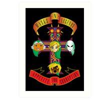 Masks n Legends Art Print