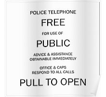 Police box notice Poster