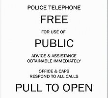 Police box notice by neimagination