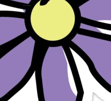 Life is Good Purple Flower Sticker