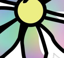 Life is Good Rainbow Flower Sticker