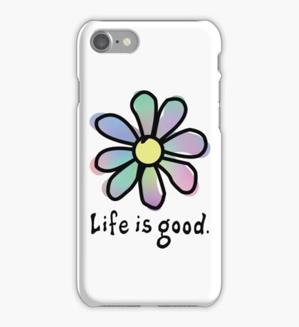 Life is Good Rainbow Flower iPhone Case/Skin