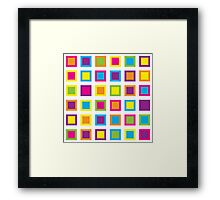 Square eyes Framed Print