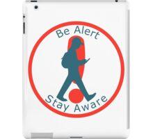Pokemon Go Warning Label iPad Case/Skin