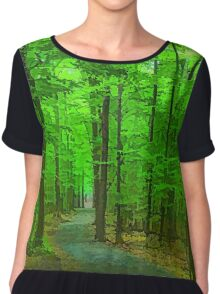 Green Trees - Impressions of Summer Forests Chiffon Top