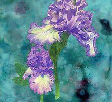Purple Ruffle Iris by Linda Ginn Art
