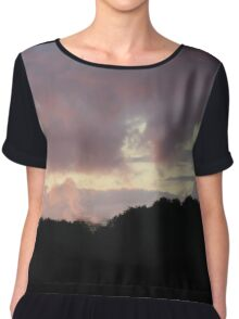 Stormy Sunset Scene Chiffon Top