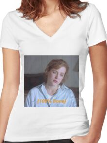 Dana Scully is So Done  Women's Fitted V-Neck T-Shirt