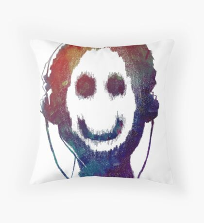 Music is Smile Throw Pillow