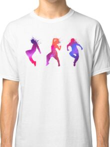 Colourful Jumping And Dancing People Silhouette Classic T-Shirt