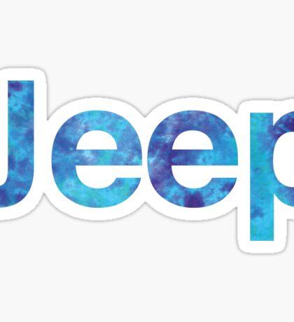 Jeep Tye Dye Sticker