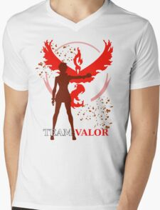 Pokemon GO - Team Valor Captain Mens V-Neck T-Shirt
