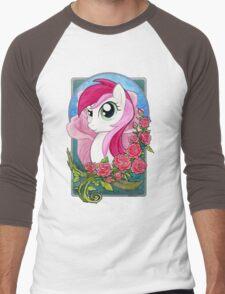 Rose Portrait Men's Baseball ¾ T-Shirt