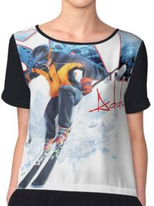 Ski Addiction Chiffon Top