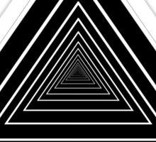 Inifinity Triangles Sticker