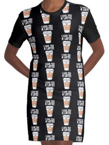 Latte Love Graphic T-Shirt Dress