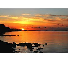 When the sun went down at the Baltic Sea Photographic Print