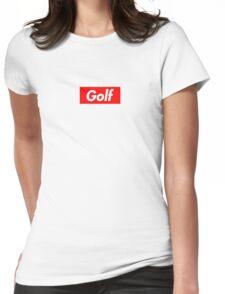 Golf Box Logo Womens Fitted T-Shirt