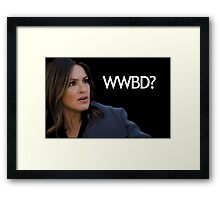 WWBD? – What Would Benson Do? Framed Print