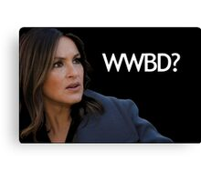 WWBD? – What Would Benson Do? Canvas Print