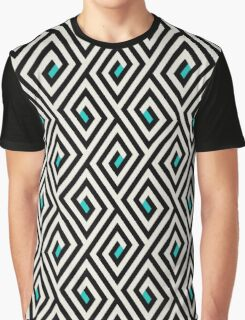 Maze pattern with blue dots Graphic T-Shirt