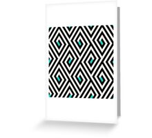 Maze pattern with blue dots Greeting Card