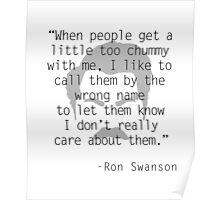 Ron Swanson: Friendship Poster
