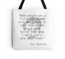 Ron Swanson: Friendship Tote Bag