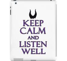 keep calm and listen well iPad Case/Skin