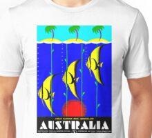 """QUEENSLAND"" Australia Great Barrier Reef Travel Print Unisex T-Shirt"