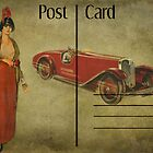 Post Card - Vintage car by © Kira Bodensted