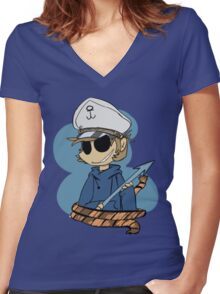 Harpoons are better Women's Fitted V-Neck T-Shirt