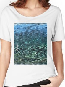 Oh! Hai! -Blue Green Wave Women's Relaxed Fit T-Shirt
