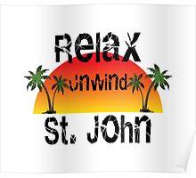 Relax Unwind St. John Poster