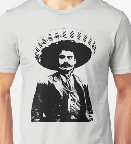 Emiliano Zapata - unichrome black Unisex T-Shirt