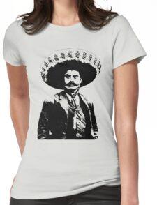 Emiliano Zapata - unichrome black Womens Fitted T-Shirt