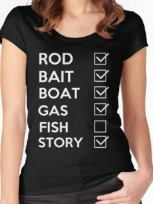 Fish - Fishing Story Women's Fitted Scoop T-Shirt