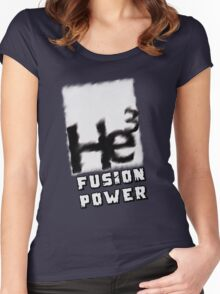 Mars 2030- Helium 3 Fusion Power Women's Fitted Scoop T-Shirt