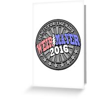 Campaign Button Vector Greeting Card