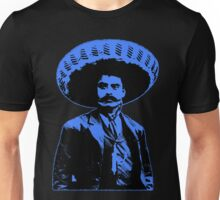 Emiliano Zapata - bichrome black / blue Unisex T-Shirt