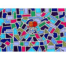 Stained Glass Dancers Photographic Print