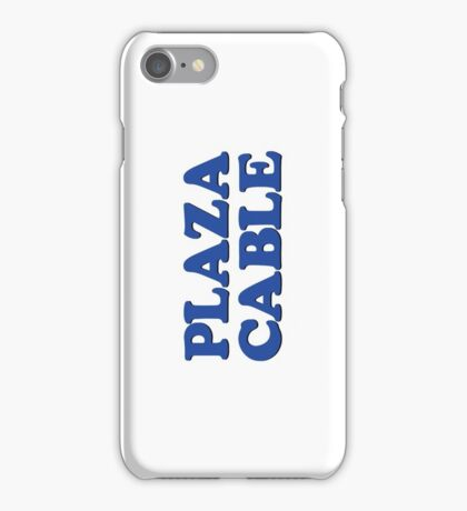 PLAZA CABLE iPhone Case/Skin