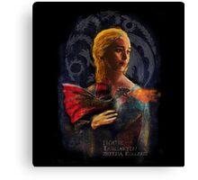 la dame au dragon Canvas Print