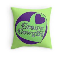 Crazy Cowgirl Throw Pillow